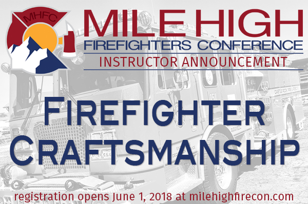 MHFC 2018 Instructor Announcement - FirefighterCraftsmanship